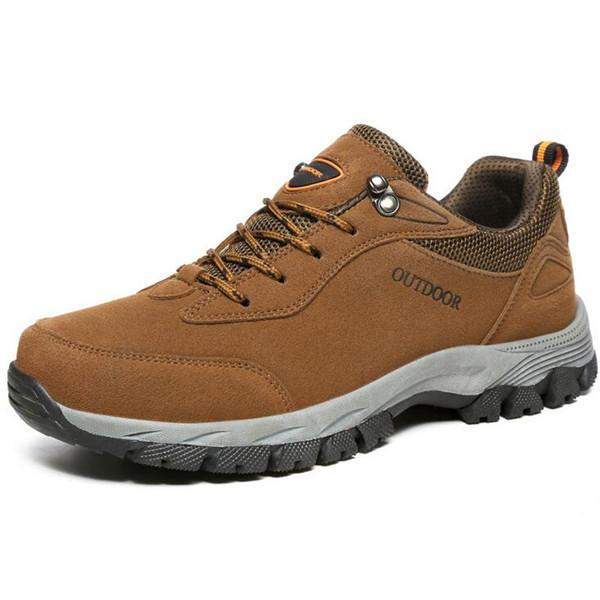 Large Size Men Suede Wear Resistant Outdoor Hiking Shoes