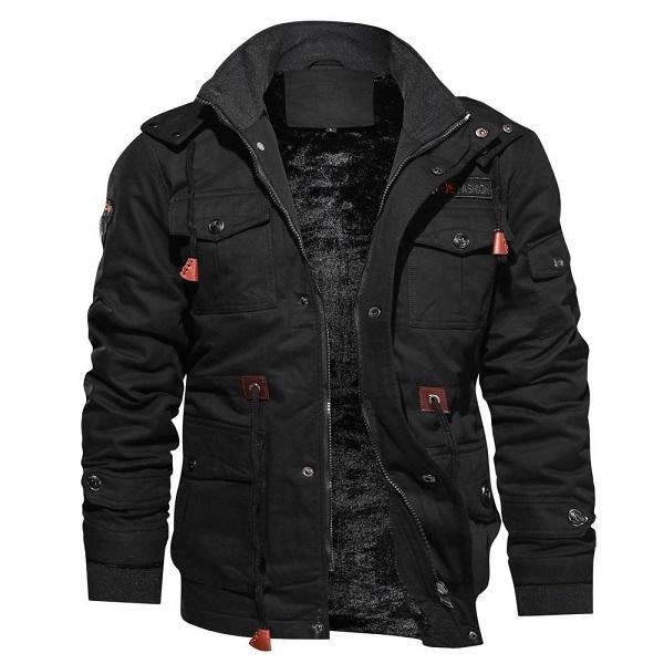 Men Stand Collar Casual Warm Jacket
