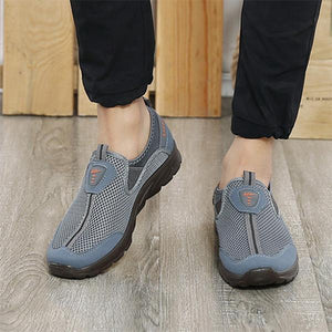 Large Size Men Mesh Breathable Running Walking Sneakers