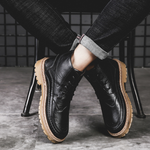 Large Size Men Leather Slip Resistant Casual Tooling Boots