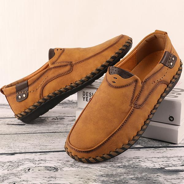 Men Handmade Quality Leather Comfortable  Casual Lazy Shoes