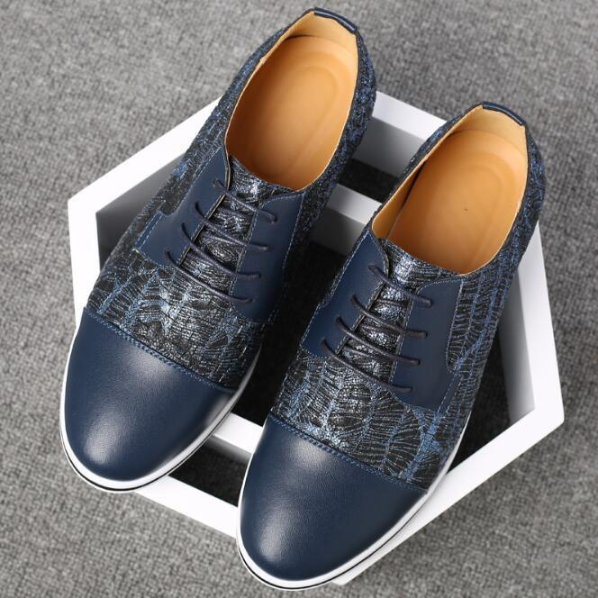 Breathable  Lattice Sneakers Men's Fashion Casual Shoes