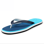 Gradient wood shoes summer non-slip flat beach shoes men's flip flops
