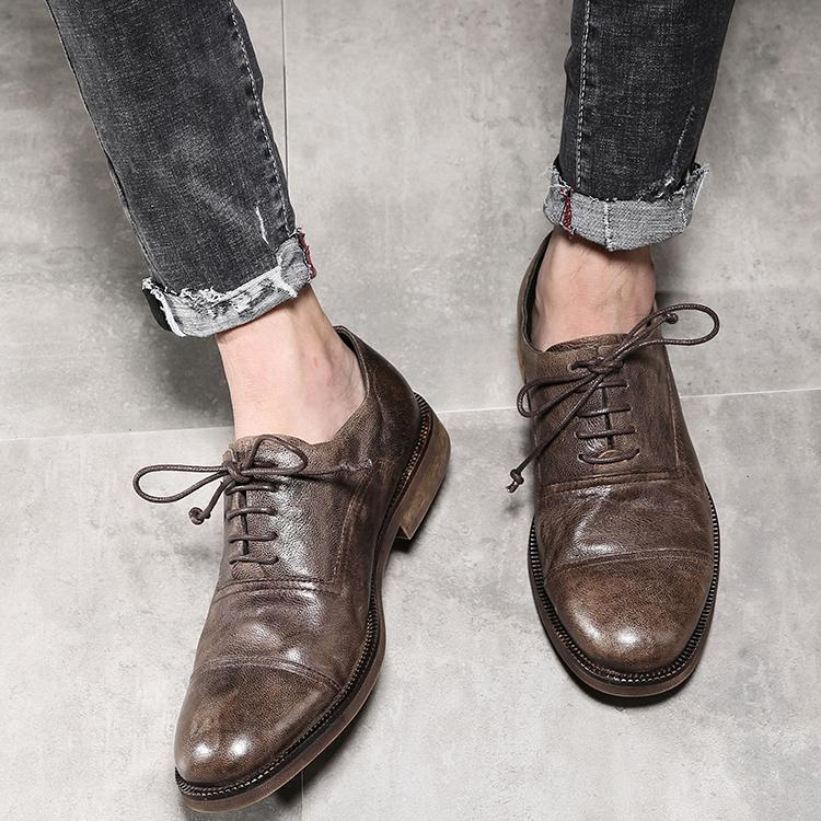 British Style Round Toe Retro Casual Shoes
