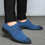 Fashion Pointed Toe Suede Brogue Shoes