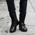 Men's Fashion Winter Lace-up Leather High-top Keep Warm Martin Boots