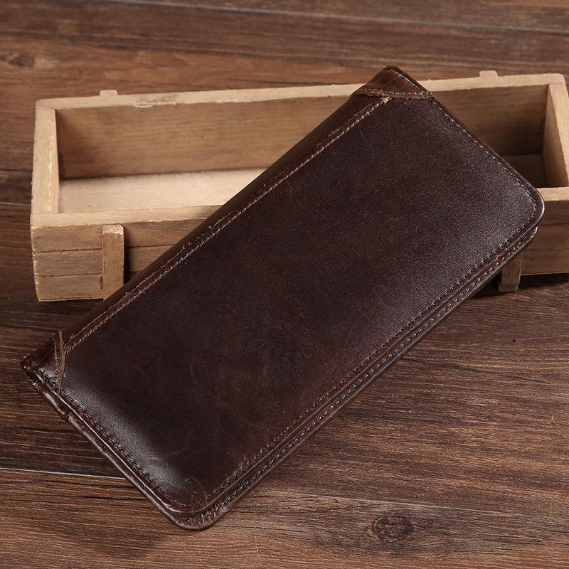 Men's Casual Leather Clutch Wallet