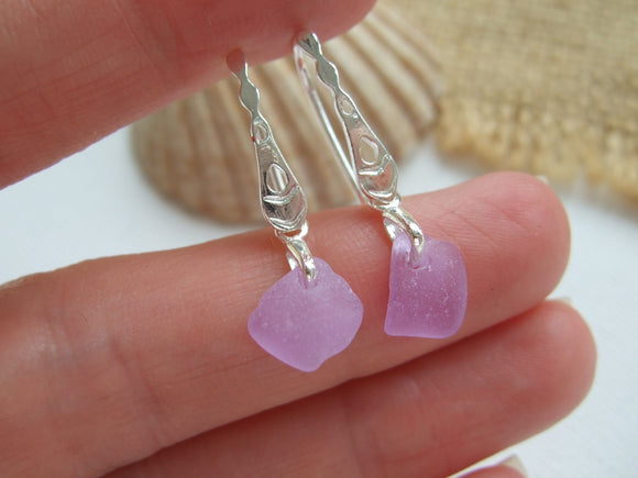 neodymium sea glass earrings
