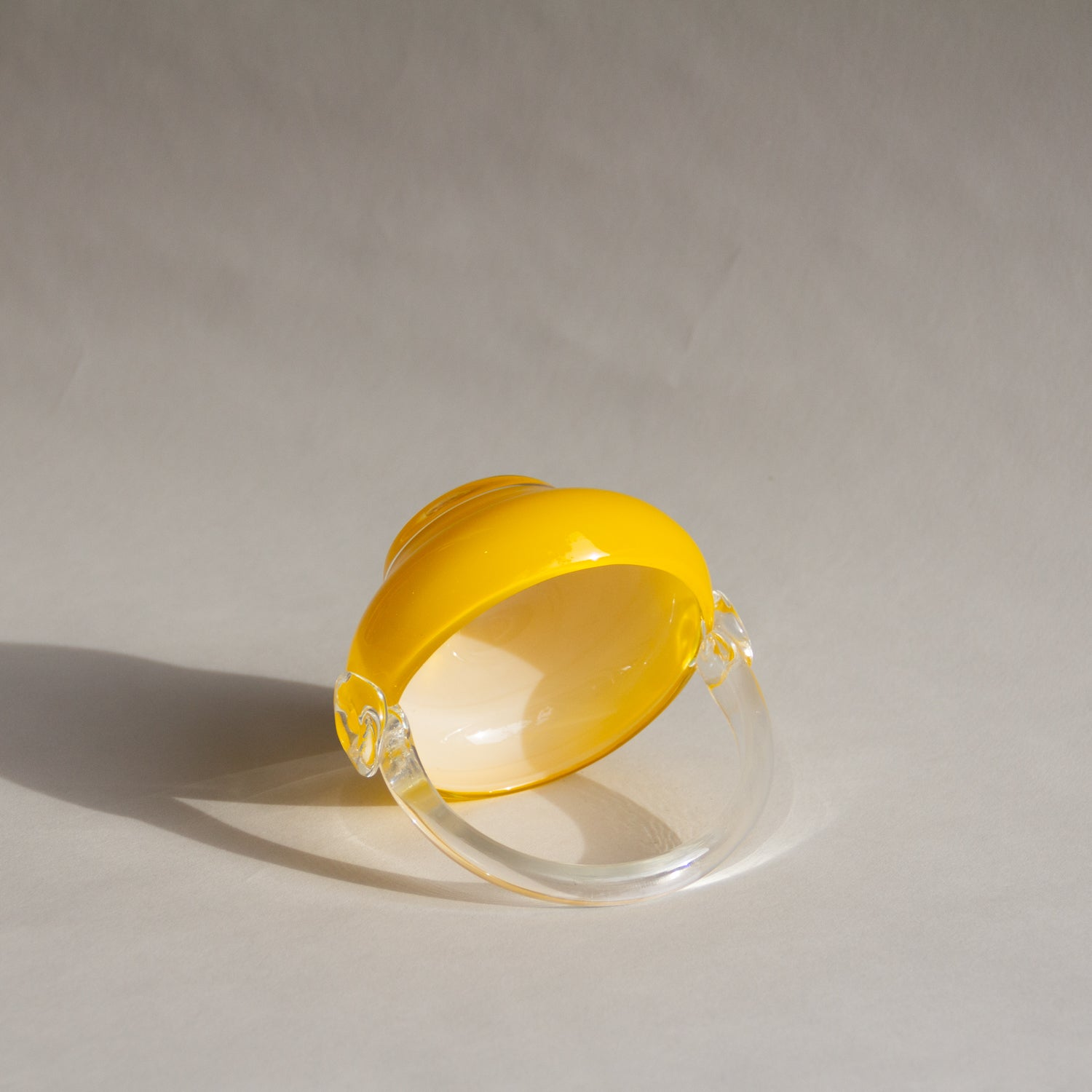 Yellow Glass Candy Bowl