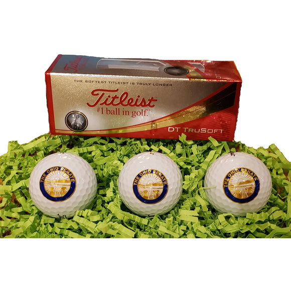 Ohio Senate 3 pack Titleist Golf Balls