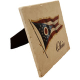 Ohio Flag Stone large Tile