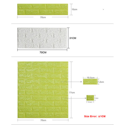 3D Brick Wall Luxury Design