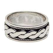 Silver Spinner Ring Ropes Design