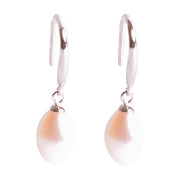9 mm Brilliant White South Seas Classic Drop Cultured Pearl Dangling Earrings in Sterling Silver