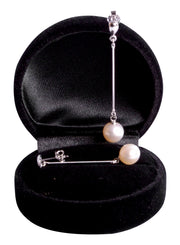 8 mm Brilliant White South Seas Cultured Pearl Drop Earrings in Sterling Silver