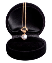 "7.5 mm Japanese Akoya Cultured Pearl Royal Necklace 18"" in 14K Yellow Gold"