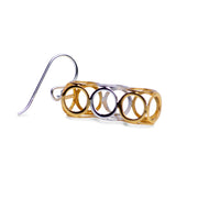 Geometric Dangle Earrings in Sterling Silver & 18K Gold Plating