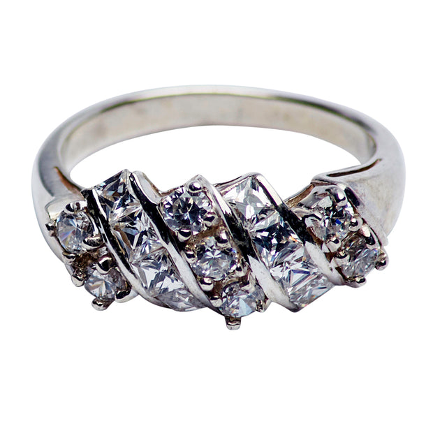 Sterling Silver And Cubic Zirconia Ring