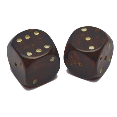 Pair of Authentic Amber Dice