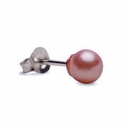 6 mm Brilliant Pink Rose South Seas Lustrous Cultured Pearl Earrings