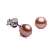 6 mm Brilliant Peach South Seas Lustrous Cultured Pearl Earrings
