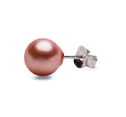 8 mm Brilliant Peach South Seas Lustrous Cultured Pearl Earrings