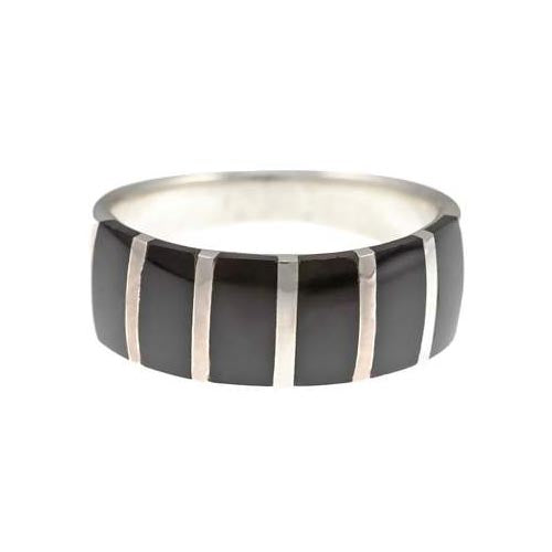 Black Onyx and Sterling Silver Ring - SilverAndGold.com Silver And Gold