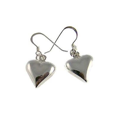 Silver Earrings: Hearts - SilverAndGold.com Silver And Gold