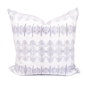 White & Purple Abstract Boho Pillow Cover | Arielle