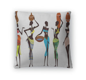 Throw Pillow, Beautiful African Women
