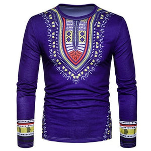 2019 Long Sleeve Traditional Print (Purple)