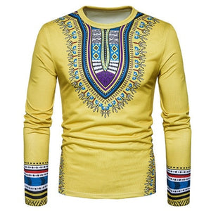 2019 Long Sleeve Traditional Print (Yellow)