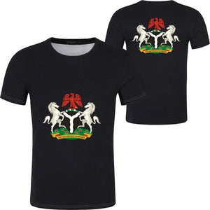 Casual T-Shirt - Nigeria Coat of Arms (Black)