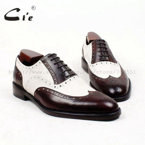 men shoe custom handmade genuine calf leather outsole breathable men's oxford shoes