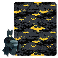 "Batman ""Black Knight"" Hugger and Fleece Throw Blanket Set- Personalized"