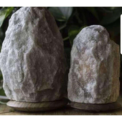 Image of Rare Grey Himalayan Salt Lamp 2-3Kg On Marble Base - Why So Salty