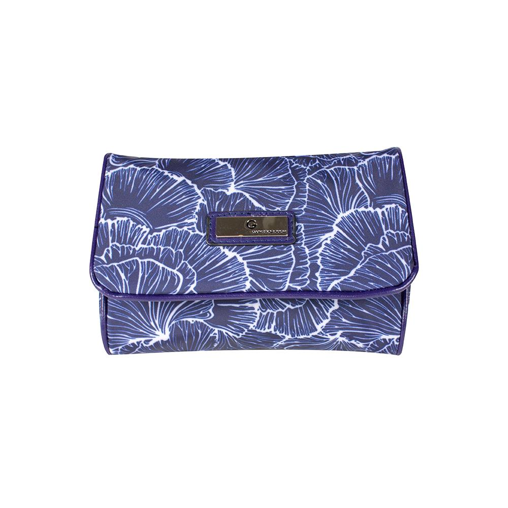 Scallop Mirror Purse - Navy