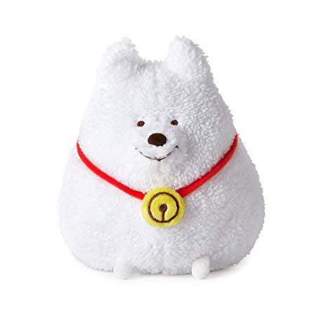 "ROY6 Merchandise with Line Friends - Eddy Character 6"" Standing Doll Plush Figure, White"