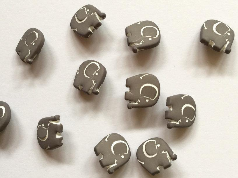 "Grey Elephant 15mm (5/8"") Buttons"