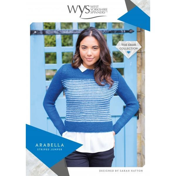 Arabella Striped Jumper Pattern West Yorkshire Spinners Knitting Pattern