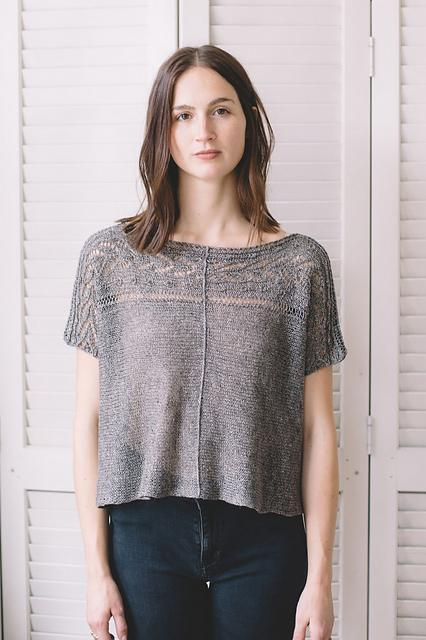 Bolan Tee Pattern Quince & Co. Knitting Pattern
