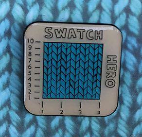 Swatch Hero Pin Badge Sue Stratford Pins & Needles