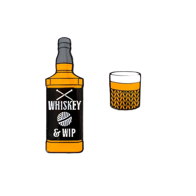 Whiskey & WIP Enamel Pin Badge Sue Stratford Pins & Needles