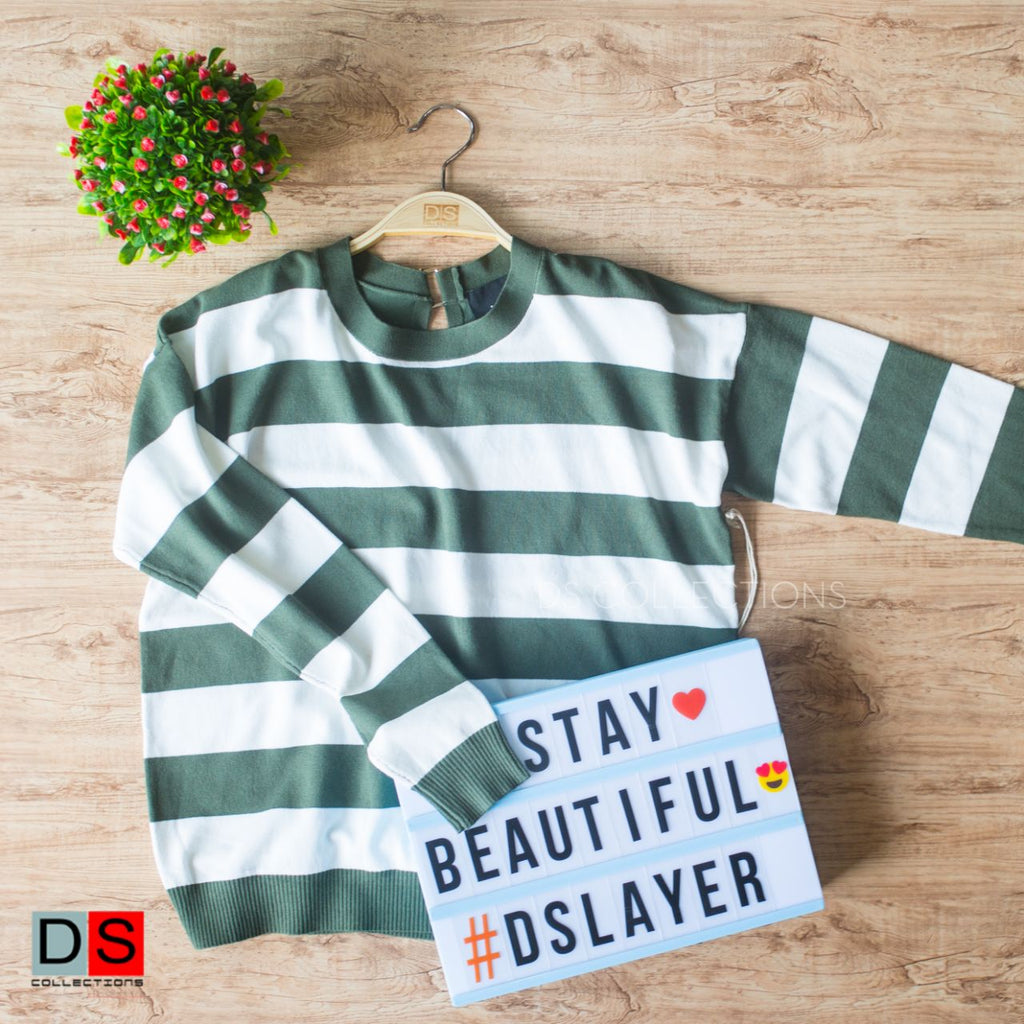 Women's Sweater - Stripe Full Sleeve | DS Collections Nepal