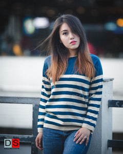 Women's Sweater - Stripe Sweater  DS Collections Nepal