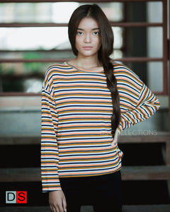 Women's Top -Stripe Full Sleeve Tops | DS Collections Nepal