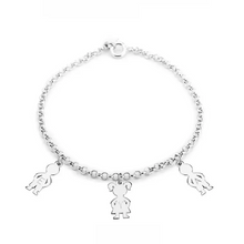 Sterling Silver Mother's Charms Bracelet 2 Charms