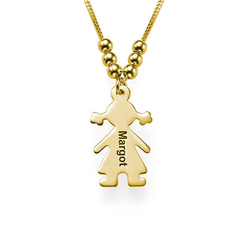 Engraved Name 1 Child Charms Necklace