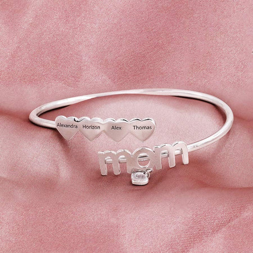 Flex Mom Heart Charms Bracelet