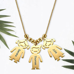 Necklace with Children 5 Charms